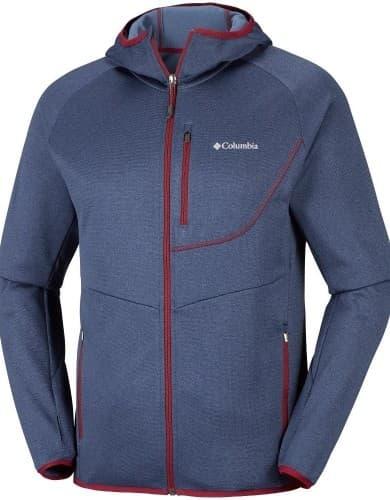 בגדי חורף קולומביה לגברים Columbia Drammen Point Hooded Fleece - כחול