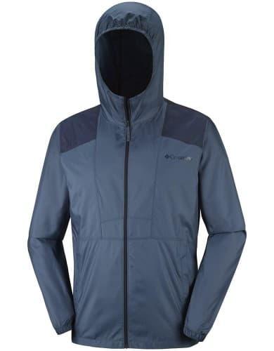 בגדי חורף קולומביה לגברים Columbia Flashback Windbreaker - אפור/כחול