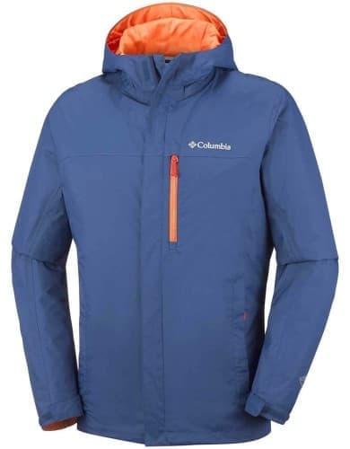 בגדי חורף קולומביה לגברים Columbia Pouring Adventure - כחול/כתום