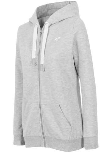 בגדי חורף פור אף לנשים 4F BLD001 - אפור בהיר