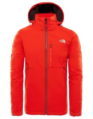 בגדי חורף דה נורת פיס לגברים The North Face Kabru Softshell Hooded - אדום