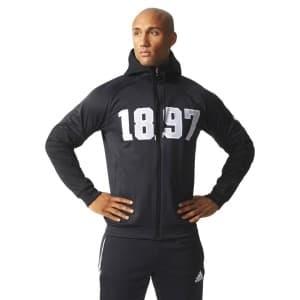 בגדי חורף אדידס לגברים Adidas Juve SF Hood ZI - שחור