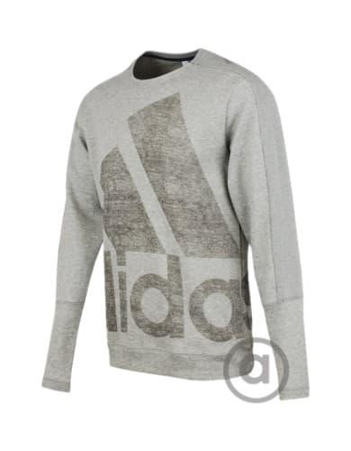 ביגוד אדידס לגברים Adidas Atc Logo Crew - אפור בהיר
