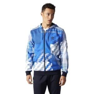 בגדי חורף אדידס לגברים Adidas ES FZ Hoody Aop - כחול