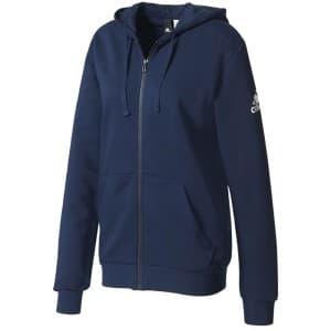 בגדי חורף אדידס לגברים Adidas Essentials Base Full Zip Hoodie Fleece - כחול כהה