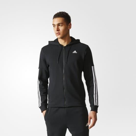 בגדי חורף אדידס לגברים Adidas Commercial M Full Zip FL - שחור