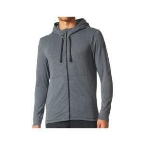 בגדי חורף אדידס לגברים Adidas Workout FZ Lite - אפור
