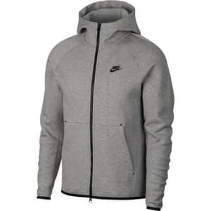 ביגוד נייק לגברים Nike Tech Fleece Hoodie FZ - אפור