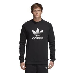 חולצת T אדידס לגברים Adidas Originals Trefoil Crewneck - שחור