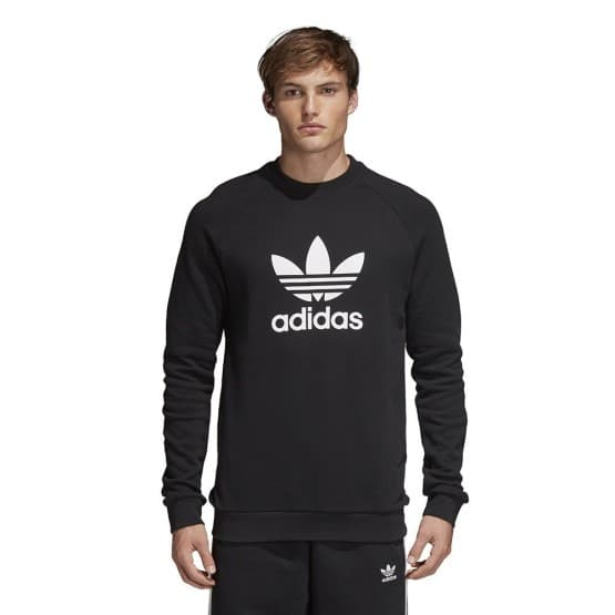 ביגוד Adidas Originals לגברים Adidas Originals Trefoil Crewneck - שחור