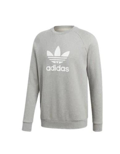 ביגוד Adidas Originals לגברים Adidas Originals Trefoil Crew - אפור בהיר