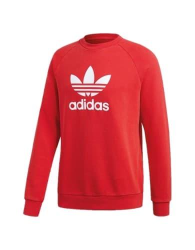 ביגוד Adidas Originals לגברים Adidas Originals Trefoil Crew - אדום