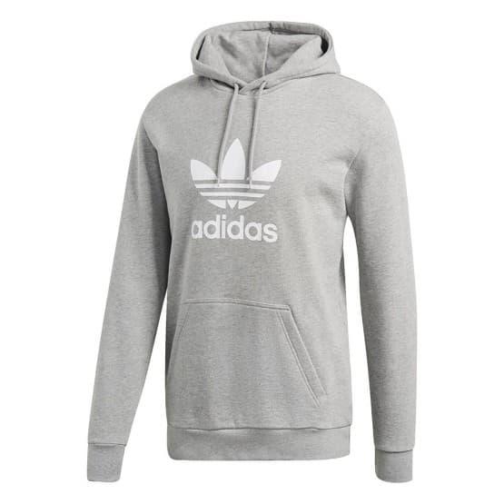 בגדי חורף Adidas Originals לגברים Adidas Originals Trefoil Hoodie - אפור בהיר