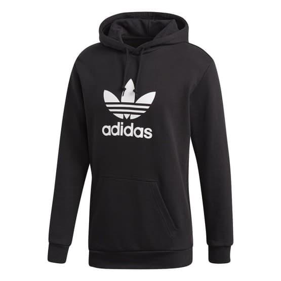 בגדי חורף Adidas Originals לגברים Adidas Originals Trefoil Hoodie - שחור