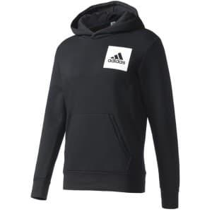 ביגוד אדידס לגברים Adidas Adidas Essentials Chest Logo Pullover Hood Fleece - שחור