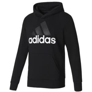 ביגוד אדידס לגברים Adidas Essentials Linear Pullover Hood French Terry - שחור