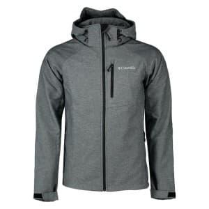 בגדי חורף קולומביה לגברים Columbia Cascade Ridge II Softshell - אפור/שחור