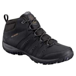 נעלי טיולים קולומביה לגברים Columbia Peakfreak Woodburn II Chukka Waterproof OmniHeat - שחור