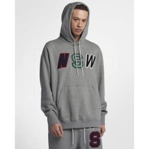 ביגוד נייק לגברים Nike Nsw Hoodie PO Fleece - אפור