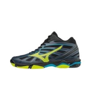 נעליים מיזונו לגברים Mizuno Wave Hurricane 3 Mid - שחור/ירוק