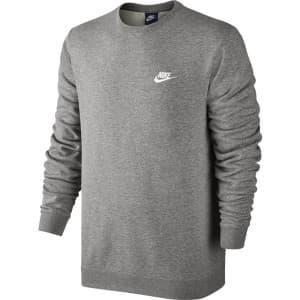 ביגוד נייק לגברים Nike Crew FT Club - אפור