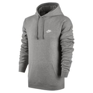 בגדי חורף נייק לגברים Nike Nsw Hoodie FZ FT Club - אפור