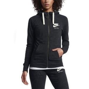 בגדי חורף נייק לנשים Nike Sportswear Gym Vintage Fullzip Hoodie - שחור