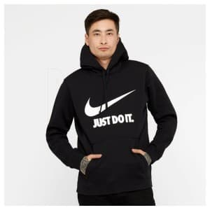 ביגוד נייק לגברים Nike  Nsw Hoodie Just DO IT - שחור