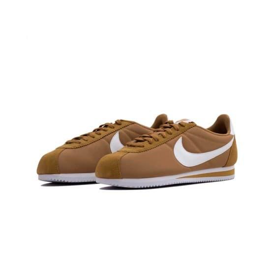 נעליים נייק לגברים Nike Classic Cortez Nylon - חום/לבן