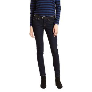 ביגוד ליוויס לנשים Levi's 711 Skinny  - כחול כהה