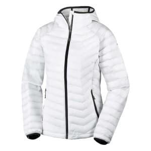 בגדי חורף קולומביה לנשים Columbia Powder Lite Hooded - לבן