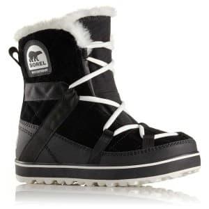 מגפיים סורל לנשים Sorel Glacy Explorer Shortie - שחור/לבן