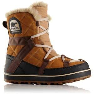 מגפיים סורל לנשים Sorel Glacy Explorer Shortie - קאמל