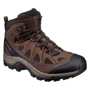 נעלי טיולים סלומון לגברים Salomon Authentic LTR Goretex - חום/שחור