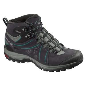 נעלי טיולים סלומון לנשים Salomon Ellipse 2 Mid Ltr Goretex - שחורטורקיז