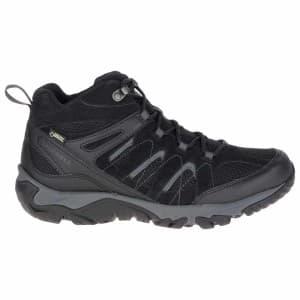 נעלי טיולים מירל לגברים Merrell Outmost Mid Vent Goretex - שחור