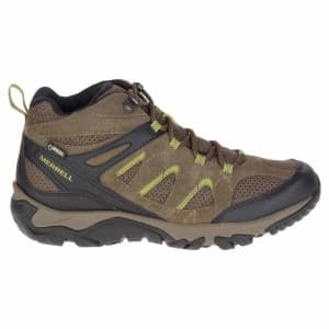 נעלי טיולים מירל לגברים Merrell Outmost Mid Vent Goretex - ירוק