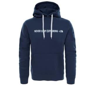 ביגוד דה נורת פיס לגברים The North Face Open Gate Pullover Hoodie - כחול