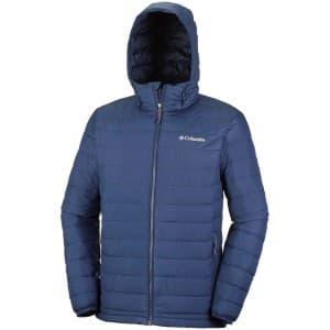 בגדי חורף קולומביה לגברים Columbia Powder Lite Hooded - כחול