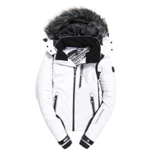 בגדי חורף סופרדרי לנשים Superdry Sleek Piste Ski - לבן