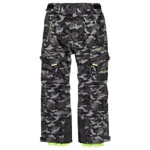 בגדי חורף סופרדרי לגברים Superdry Snow Pants - אפור/שחור