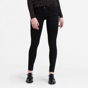 ביגוד ליוויס לנשים Levi's 710 Innovation Super Skinny  - שחור