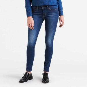 ביגוד ליוויס לנשים Levi's 711 Skinny  - ג'ינס כהה