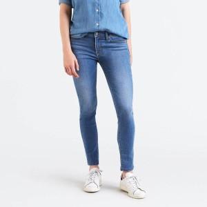 ביגוד ליוויס לנשים Levi's 711 Skinny  - כחול/לבן