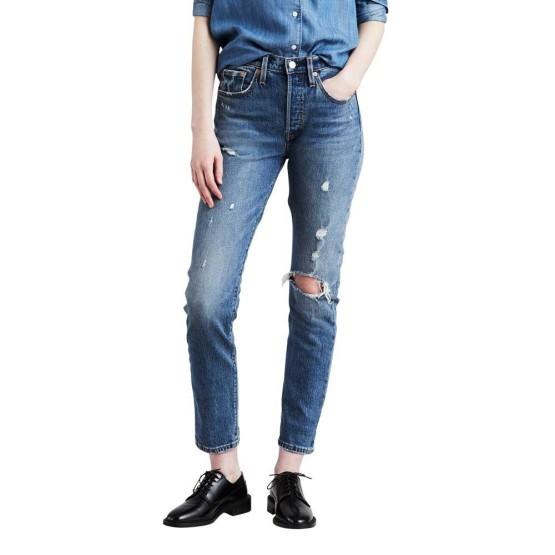 ביגוד ליוויס לנשים Levi's 501 Customized Skinny  - כחול