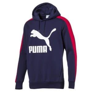 ביגוד פומה לגברים PUMA Classics T7 Logo Hoody - כחול