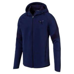 ביגוד פומה לגברים PUMA Evostripe Full Zip Hoody - כחול