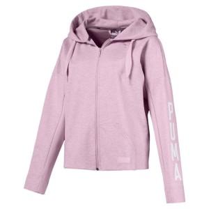 בגדי חורף פומה לנשים PUMA Fusion Full Zip Hoody - סגול/ורוד