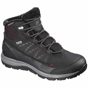 נעלי טיולים סלומון לגברים Salomon KAIPO CS WATERPROOF 2 - שחור/אפור