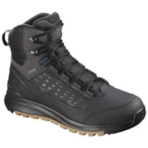 נעלי טיולים סלומון לגברים Salomon KAIPO Mid Goretex - שחור/חום